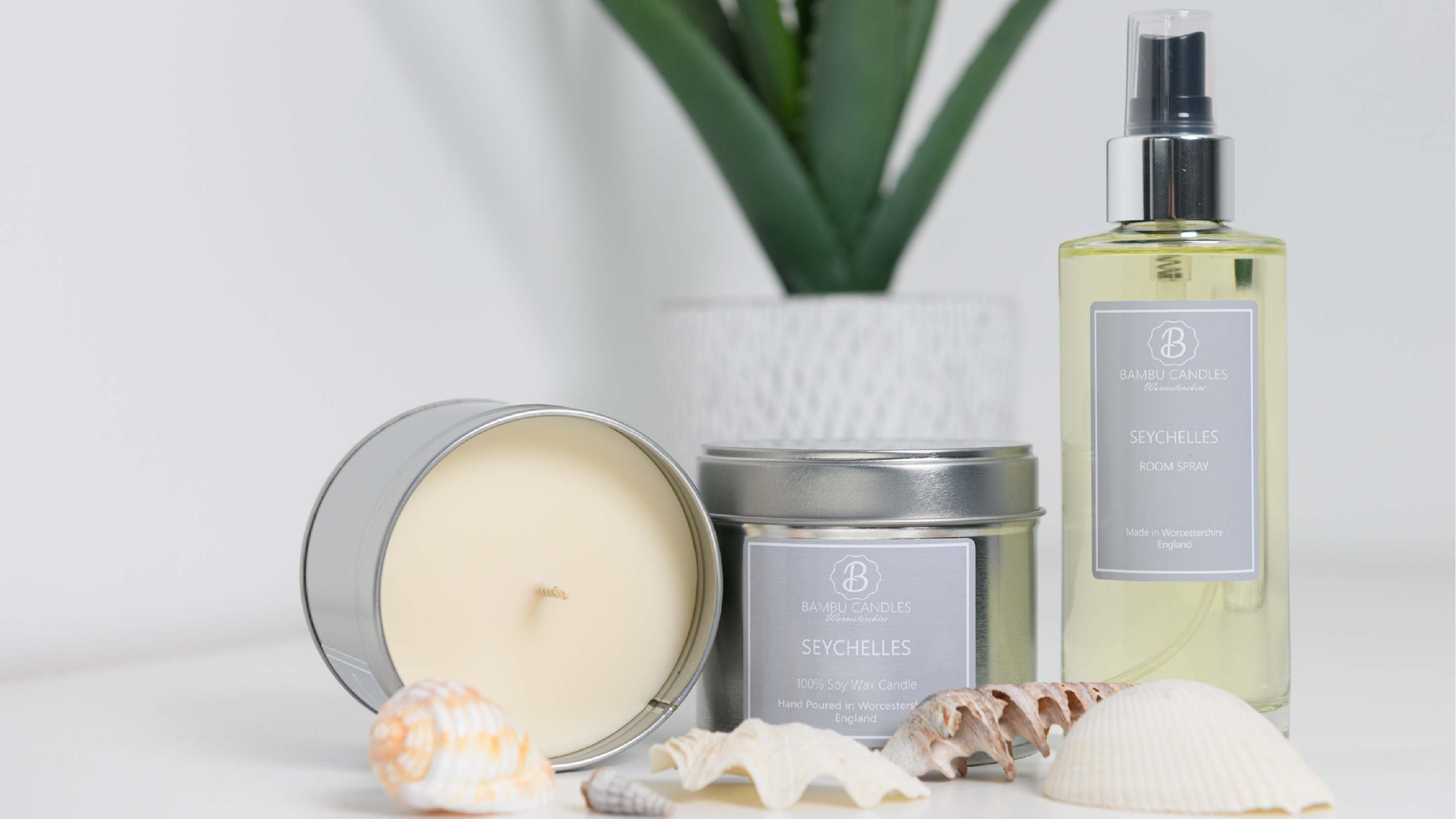 Soy Wax Candles and Room Sprays.